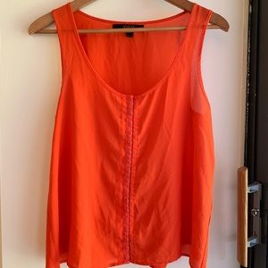 Orange OVI Tank Blouse with detailing down front